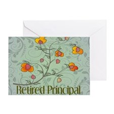 retired principal vines 2 Greeting Card