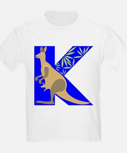 K is for Kangaroo Kids T-Shirt