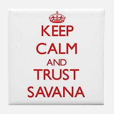 Keep Calm and TRUST Savana Tile Coaster