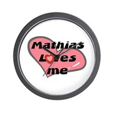 mathias loves me  Wall Clock