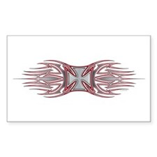 Iron Cross (Tribal Flames) Rectangle Decal