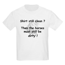 clean or dirty horse shirt Kids T-Shirt