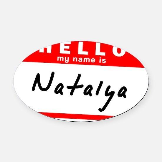 Natalya Oval Car Magnet
