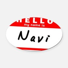 Navi Oval Car Magnet