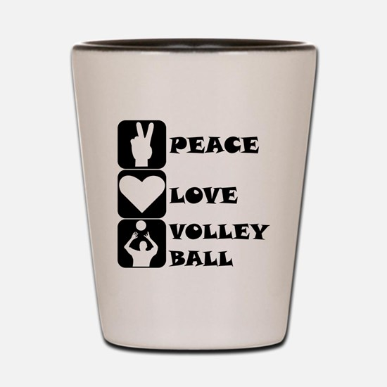 Peace Love Volleyball Shot Glass