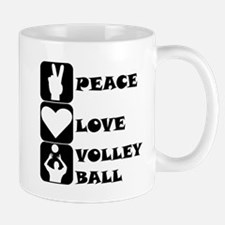Peace Love Volleyball Mugs