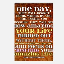 one day poster Postcards (Package of 8)