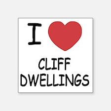"CLIFF_DWELLINGS222 Square Sticker 3"" x 3"""