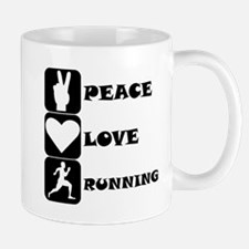 Peace Love Running Mugs
