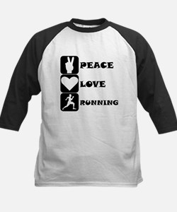 Peace Love Running Baseball Jersey