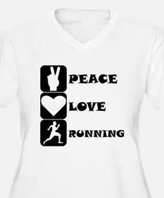 Peace Love Running Plus Size T-Shirt