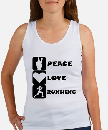 Peace Love Running Tank Top