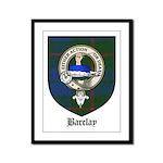 Barclay Clan Crest Tartan Framed Panel Print