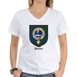 Barclay Clan Crest Tartan Women's V-Neck T-Shirt