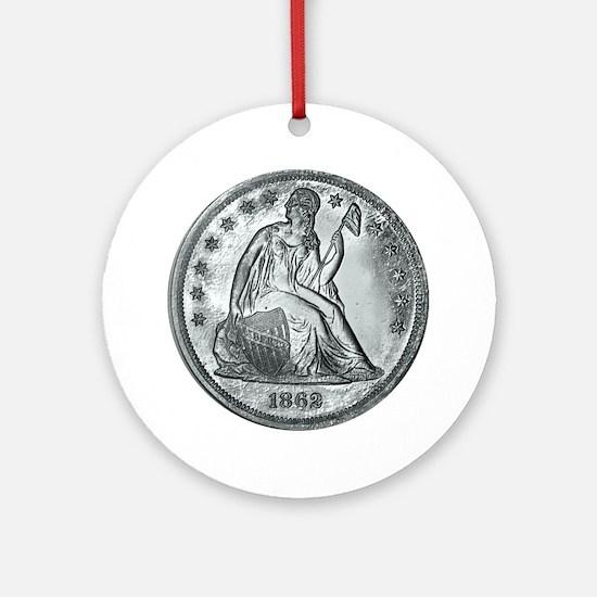 1862coinGif 12x12.gif Round Ornament