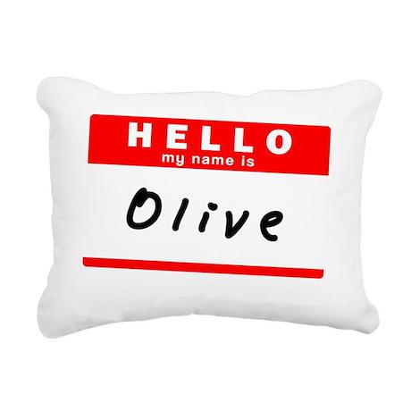 Olive Rectangular Canvas Pillow