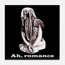 Bound By Romance/black Tile Coaster