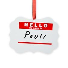Pauli Ornament
