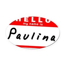 Paulina Oval Car Magnet