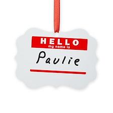 Paulie Ornament
