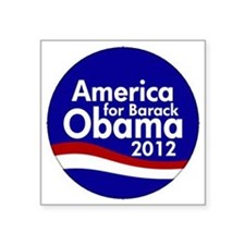 "Obama 2012 Square Sticker 3"" x 3"""