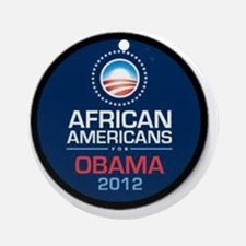 African Americans for Obama Round Ornament