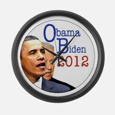 obama biden Large Wall Clock