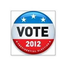 "Vote 2012 Square Sticker 3"" x 3"""