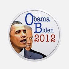 obama biden Round Ornament