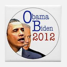 obama biden Tile Coaster