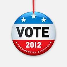 Vote 2012 Round Ornament