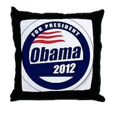 Vote for obama Throw Pillow