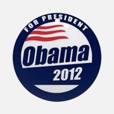 Vote for obama Round Ornament