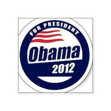 """Vote for obama Square Sticker 3"""" x 3"""""""