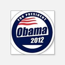 "Vote for obama Square Sticker 3"" x 3"""