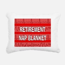 MEDICAL NAP BLANKET RED Rectangular Canvas Pillow