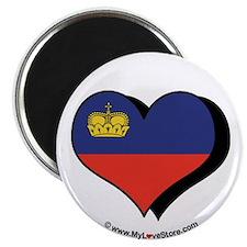 """I Love Liechtenstein 2.25"""" Magnet (100 pack)"""