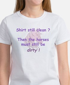 clean or dirty horse shirt (p Women's T-Shirt