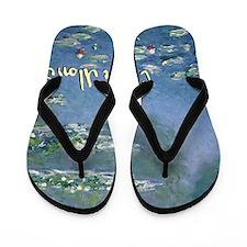 MonetWaterLillies7100 Flip Flops