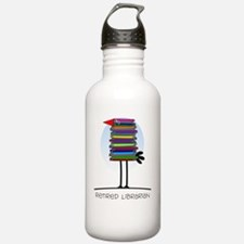 Retired Librarian BIRD Water Bottle