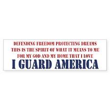 I Guard America Bumper Bumper Sticker