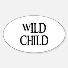 WILD CHILD Oval Decal