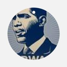 Obama Forward Round Ornament