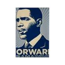 Obama Forward Rectangle Magnet