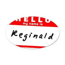 Reginald Oval Car Magnet