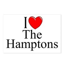 """""""I Love The Hamptons"""" Postcards (Package of 8)"""