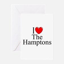 """""""I Love The Hamptons"""" Greeting Cards (Pk of 10"""