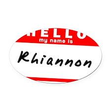 Rhiannon Oval Car Magnet