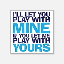 "playmine copy Square Sticker 3"" x 3"""