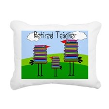 Retired TEacher BIRD BLA Rectangular Canvas Pillow